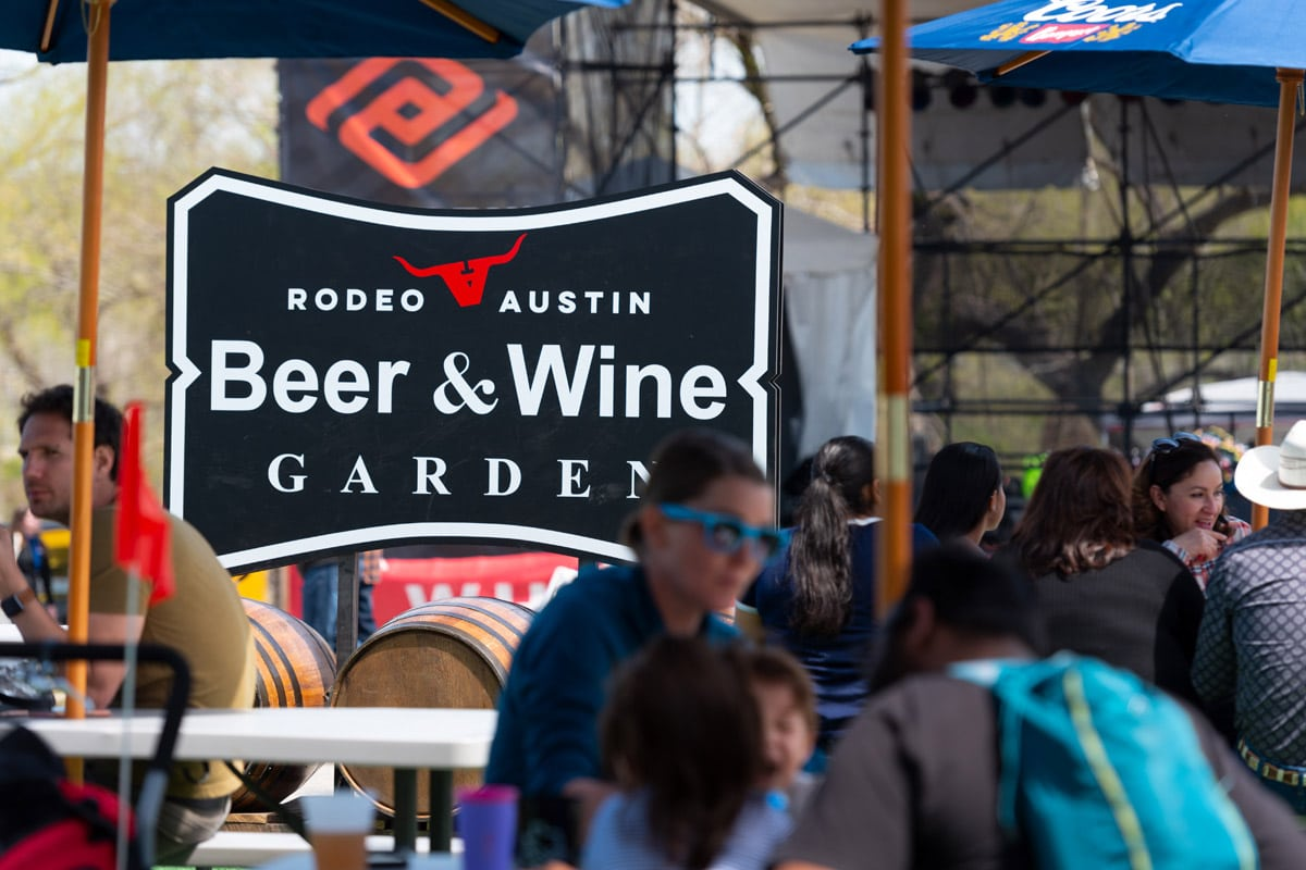 Beer and Wine Garden at Rodeo Austin