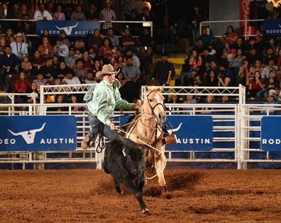 Tie-Down Roper at Rodeo Austin