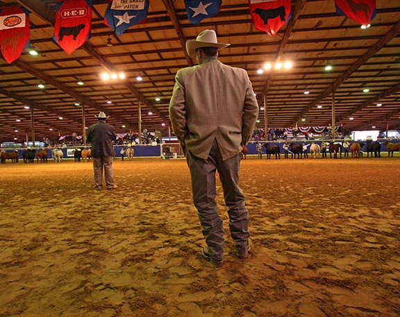 Rodeo Austin arena with people standing
