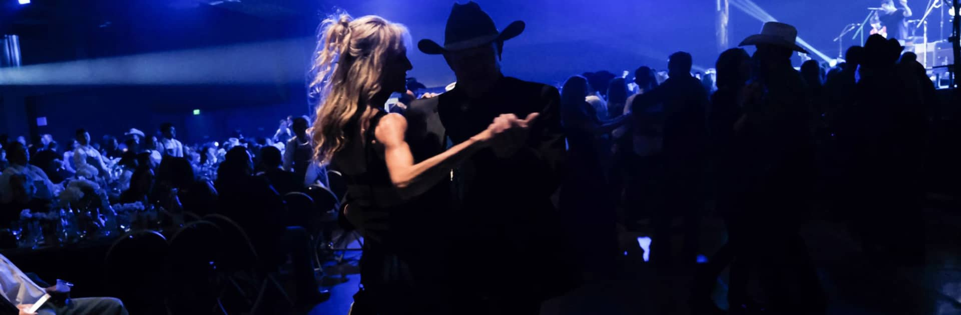 couple dancing at Rodeo Austin Gala 2020